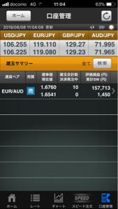 euraud - 欧州 ユーロ / オーストラリア ドル これってお宝ポジになるんか?