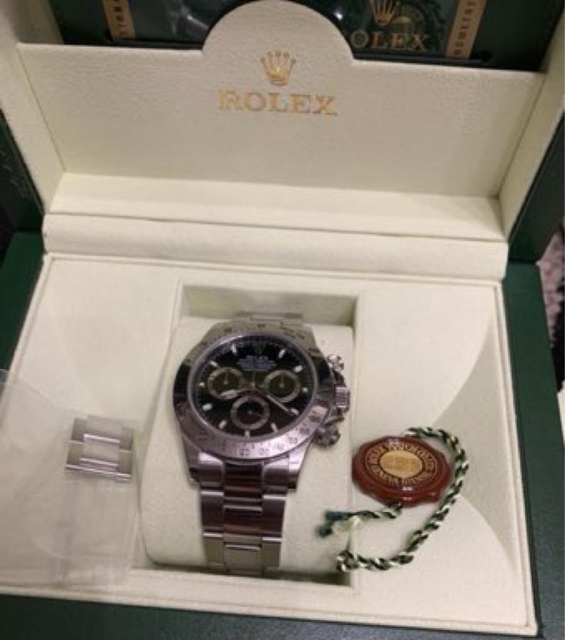 6993 - 大黒屋ホールディングス(株) これこれ❗️ 箱、ギャラ、OHホヤホヤのピカピカの美品やったよ❗️ これで280万円税込み〜激安🥳