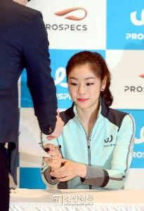 キム・ヨナ2 韓国のスポーツメーカーPROSPECS主催のサイン会だそうです。