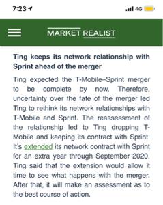 9984 - ソフトバンクグループ(株) 面白い記事が有りました。スプリントやTMUS…自社回線の貸与ビジネスをしていてグーグル
