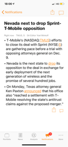 9984 - ソフトバンクグループ(株)  >テキサス州がスプリントとtモバイルの合併訴訟を取り下げたぞ。 > >この件が片