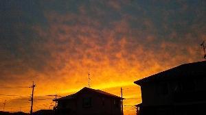 ☆☆岡山の山、大好き☆☆ 本日の夕焼け。