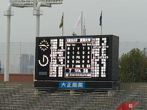 ☆☆大東文化大学ラグビー部☆☆ 前半リードするも、後半は地力の差がて出しまった。