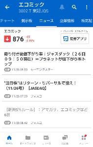 3802 - (株)エコミック ヤフーニュースで注目株はリターン&リバーサルで狙え、いうのが載ると大概さらに掘るの☀️  チ