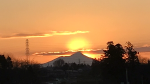 栃木百名山 やっと念願叶って 今朝ダイアモンド筑波を 観る事が出来ました🤗💖