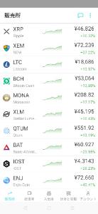 8698 - マネックスグループ(株) BTCやETHも上げてるけど、マイナーなオルトコインたちの上昇がすごいですね。
