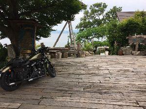 ハーレー ツーリング❗️ こんばんは!今日は雨がもったので琵琶湖シャーレー水ヶ浜に行って、その後マーガレットステーション道の駅