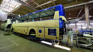 北陸新幹線 いよいよです♪ この写真が噂の北陸新幹線の車両製造でしょうか.右奥に顔の部分?? バリアフリーホームってなんか聞いた