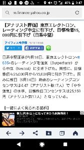 8035 - 東京エレクトロン(株) 中堅証券会社ってどこやねん? こんなん、書いてありなのか?