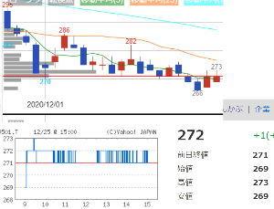 9501 - 東京電力ホールディングス(株) 272でフタ