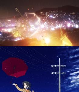 """響けユーフォニアム、開けポンキッキー 京アニはどっち? EDの""""空に舞う傘""""を見ると 凪のあすからのOP2を思い出すね"""