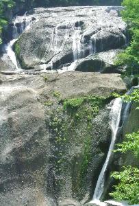 usdjpy - アメリカ ドル / 日本 円 氷瀑で有名ではあるが、夏季に水が無く草が生えていた袋田の滝、撮影者min。