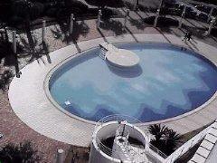 4681 - リゾートトラスト(株) エクシブ白浜本館から見下ろした屋外プールはプールを利用していない季節の風景も好きでしたね。他の人はエ