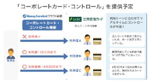 3994 - (株)マネーフォワード 三井住友カードと協働でコーポレートカード・コントロール提供。19年秋からサービス稼働。