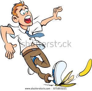 生き物山手線ゲーム 18.バナナ  アニメでバナナの皮で滑って転ぶというシーンがあります!!  noto1_8さん、wa
