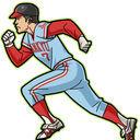 ★★★アニメ関連山手線ゲーム☆☆☆ 11.フクモト選手  がんばれタブチくんより  モデルは福本豊選手で1065盗塁はNPB記録で リッ