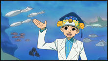 ★★★アニメ関連山手線ゲーム☆☆☆ 6.さかなクン  魚類学者で、タレント、イラストレーター 東京海洋大学客員准教授  魚関連のアニメの