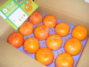 7213 - レシップホールディングス(株) 富有柿LL到着 惚れ惚れする立派な柿です。