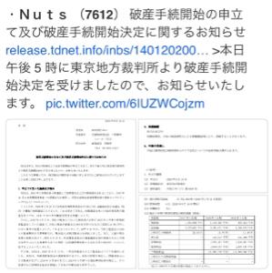 7612 - (株)Nuts 織り込み済みか、なら安心ですなwww