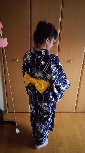 会社と家の往復 夏は浴衣ですね~~❗ 今日は北海道は七夕です。町内会のお祭りで 浴衣着てみました❗