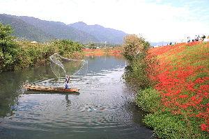写遊人 津屋川で、初めて投網シーンを撮る事が出来ました。