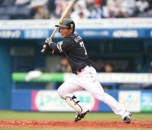 鷹の核弾頭! 中村 晃 #60 3割をアキラめるな!!  今季はここまで2割8分どまりだが アキラは、現在のプロ野球界でただ一人 昨