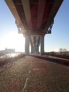 メタ宗教について語り合いましょう 高速道の下は歩行者、自転車専用みたいで、 人も少ないし、まあまあ快適^^  大地震発生時は天井が無い