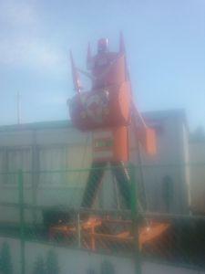 カエル型の水道の蛇口がきわどい場所に付いている 宇都宮市 ロボット型の点灯ランプ どんな動きするのかが気になった 栃木県上三川町