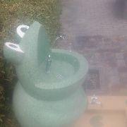 カエル型の水道の蛇口がきわどい場所に付いている 宇都宮市