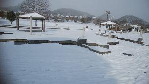 ボチボチ・・行きましょうか 寒波が依然と居座っている毎日です。写真は先日の雪の日の、近くの公園風景です。  今日は、かみさんが常
