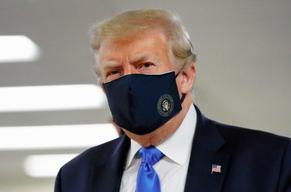 来週のレンジ予想 【トランプ氏マスク姿】 トランプ米大統領は、首都ワシントン近郊の米軍医療施設を訪問し、公の場で初めて