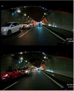ドライブレコーダー ひやり体験 (静止画版) >>ご注意!  交通情報で「事故と、その事故を見て通る車で渋滞」 なんてやってますから、高速は特に注