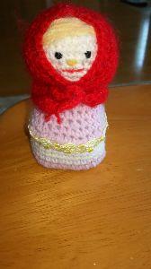 編みものが好き 小物入れのお人形です❗