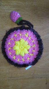 編みものが好き お花のポーチ❗ 🍓付き