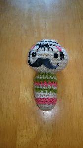 編みものが好き ヒゲつけてみました。