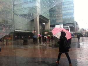 8806 - ダイビル(株) 雨でもいつもより人通り多い!