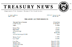 1552 - 国際のETF VIX短期先物指数 2時の国債入札結果です(´・ω・`)やや不調っぽい  米財務省5年国債入札(