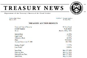1552 - 国際のETF VIX短期先物指数 2時の国債入札結果です(´・ω・`) 応札率低いね  米財務省30年国債入札