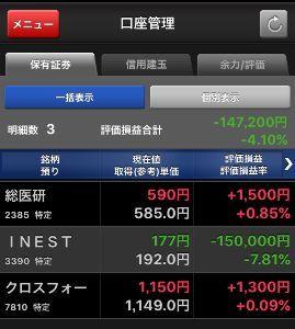 株式投資で100万円を1億円に増やそう やっと水面に顔が出て来たみたい(ブクブク) ヒィーフゥー でもクロスフォーは明日下がりそうよ。。 I