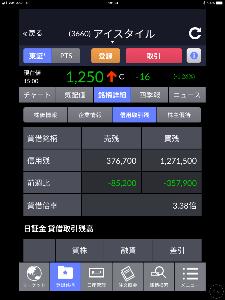 3660 - (株)アイスタイル 今  毎週火曜日に更新された東証の貸借です‼️   少し改善されました‼️    現在は89万4,8