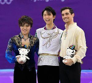 凡人の妄想トレーディング フィギュアスケートの男子 羽生結弦選手の金メダル、宇野昌磨選手の銀メダルを獲得。 素晴らしい結果に感