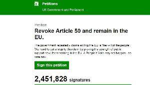 凡人の妄想トレーディング 今、英国で起こっている波・・・・・・  A petition calling for Theresa
