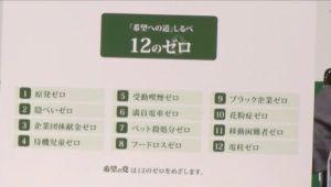 朝日新聞とNHK問題 『見事なり 12の嘘を 公約し』    よくもまあ、これだけ出来もしない事を並べたものです。『12の