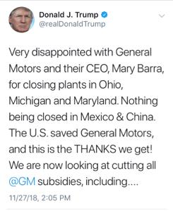 GM - ゼネラル・モーターズ ハーレーといいお前が原因だろ!って感じ