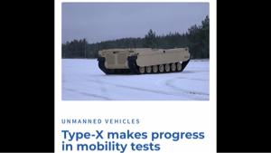 7003 - (株)三井E&Sホールディングス 小国のエストニアが開発しているロボット戦闘車両の車体(´・ω・`)  無人1