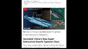7003 - (株)三井E&Sホールディングス 米国が推測する中国が現在開発している戦略原子力潜水艦(。・ω・。)