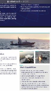 7003 - (株)三井E&Sホールディングス 新型の無人ミサイル艇のカタログの一部( ^ω^ )