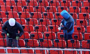 朝鮮人を笑う 朝鮮人はこんなショボイヒーターで極寒の開会式を乗り越えられると自信を持っているらしいwww  平昌オ