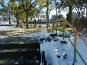 出来るうちに畑仕事をしたい 12日の名古屋の公園の様子です。  あの後、雪が少し溶けました。  そして、誰かが雪ダルマを作ってい