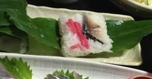 出来るうちに畑仕事をしたい ミョウガの葉寿司。